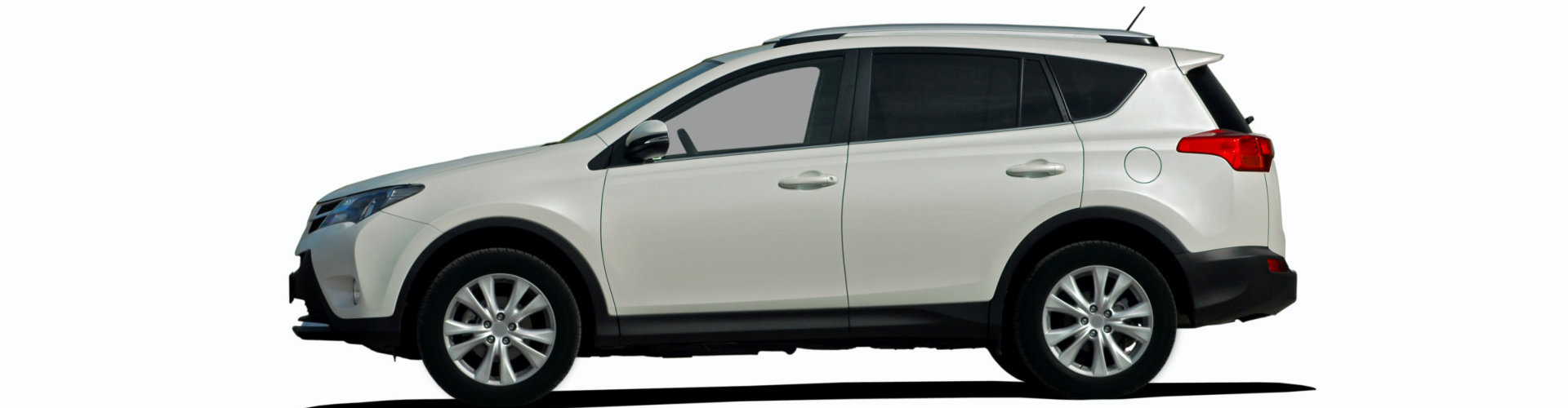 sideview image of a white car